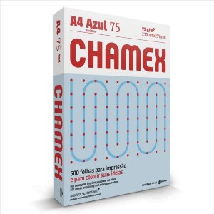 Papel Chamex 500F A4 75Gr Cor Azul