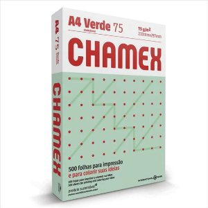Papel Chamex 500F A4 75Gr Cor Verde