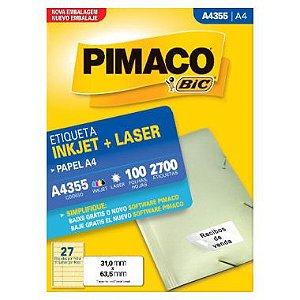 Etiqueta Pimaco C/100 A4355 (27) A4