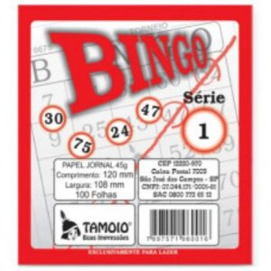 Bloco de Bingo Jornal Tamoio 100 Folhas