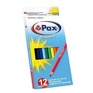 Lápis De Cor Pax Hexacolor 12 Cores