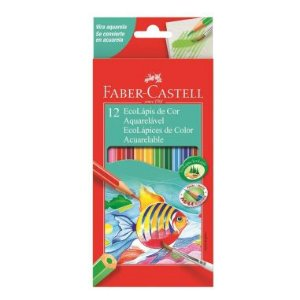 Lápis De Cor Faber Castell 12 Cores Aquarelável