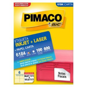 Etiqueta Pimaco C/100 6184 (6) Carta