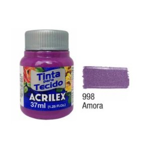 Tinta P/Tecido Fosca Acrilex 37ML Amora 998