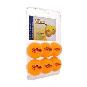 Bola de Ping Pong Laranja Bel Sports com 6 Unidades
