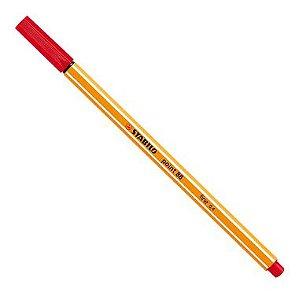 Caneta Stabilo Point 88 Vermelho 40