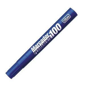 Marcador Permanente Tilibra 100 Azul