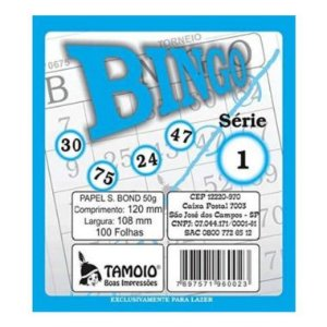 Bloco de Bingo Tamoio Azul 6002