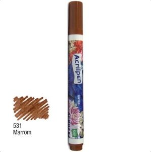Acrilpen Tecido Acrilex Marrom 531