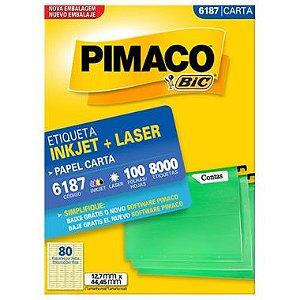 Etiqueta Pimaco C/100 6187 (80) Carta