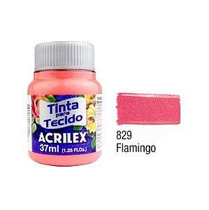 Tinta P/Tecido Fosca Acrilex 37ML Flamingo 829