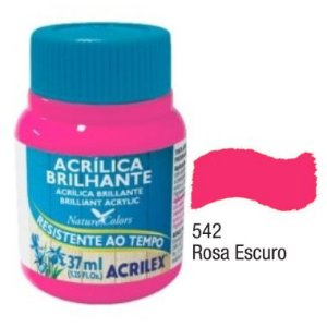Tinta Acrílica Acrilex Brilhante 37Ml Rosa Escuro 542