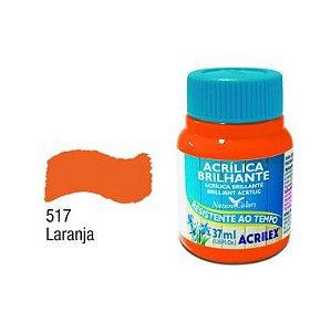 Tinta Acrílica Brilhante Acrilex 37ML Laranja 517