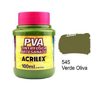 Tinta Plastica PVA Verde Oliva 545 100Ml