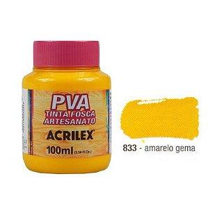 Tinta Plastica PVA Amarelo Gema 833 100Ml