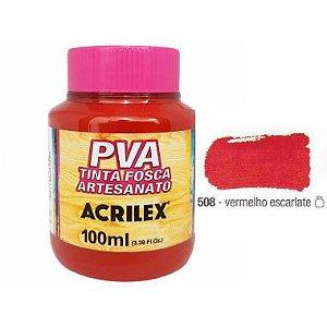 Tinta Plastica PVA Vermelho Escarlate 508 100Ml