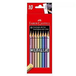 Lápis De Cor Faber Castell 10 Cores Metalizadas