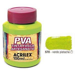 Tinta Plastica PVA Verde Pistache 570 100Ml