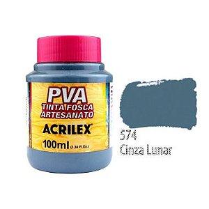 Tinta Plastica PVA Cinza Lunar 574 100Ml