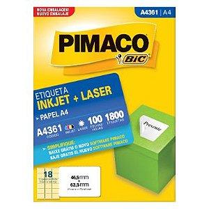 Etiqueta Pimaco C/100 A4361 (18) A4