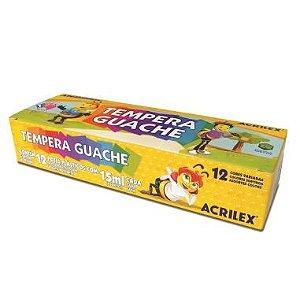 Tinta Guache Acrilex 12 Cores