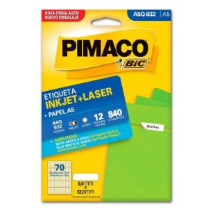 Etiqueta A5 Q932 Pimaco