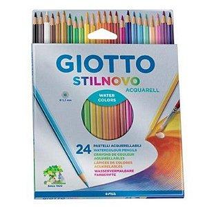 Lápis De Cor Giotto Stilnovo 24 Cores Aquarelável