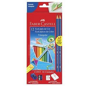 Lápis De Cor Faber Castell 12 Cores Triangular
