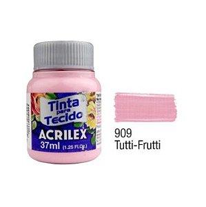 Tinta P/Tecido Fosca Acrilex 37ML Tutti Frutti 909