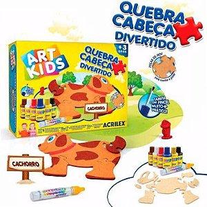 Quebra-Cabeça Acrilex Cachorro Art Kids MDF
