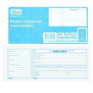 Recibo Comercial com Canhoto Tilibra 50 Folhas 151459