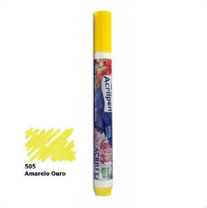 Acrilpen Tecido Acrilex Amarelo 505