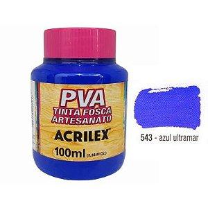 Tinta Plastica PVA Azul Ultramar 543 100Ml