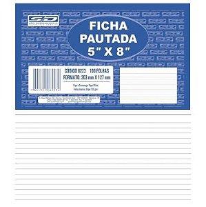 Ficha Pautada 5X8 São Domingos C/100