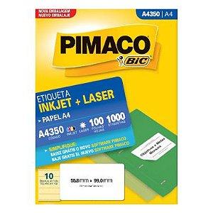 Etiqueta Pimaco C/100 A4350 (10) A4