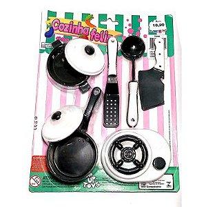 Conjunto de Panelinhas Cozinha Feliz Up Toys