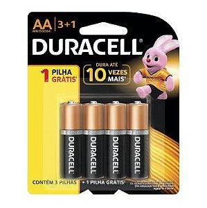 Pilha AA Duracell C/3+1 Grátis Alcalina