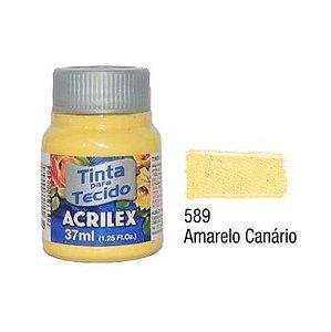 Tinta P/Tecido Fosca Acrilex 37ML Amarelo Canário 589