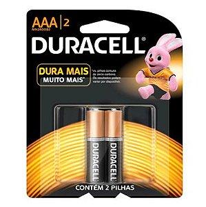 Pilha AAA Duracell C/2 Palito Alcalina