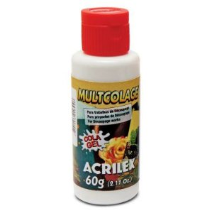 Cola Multcolage Acrilex 60G Decoupage