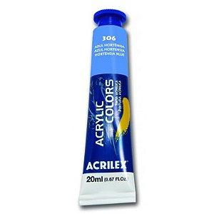Tinta Acrylic Colors Acrilex Azul Hortênsia 306