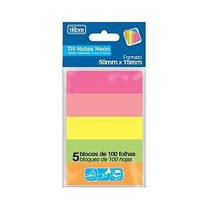 Blocos Adesivos Tilibra Tili Notes Neon C/4 50X15 100F
