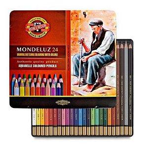 Lápis De Cor Koh-I-Noor Mondeluz C/24 Cores Aquarelável