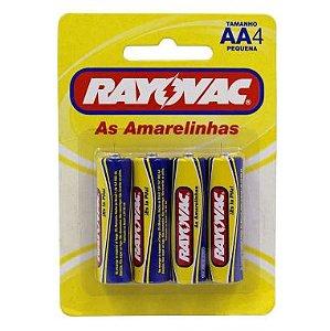 Pilha AA Rayovac C/4 Alcalina