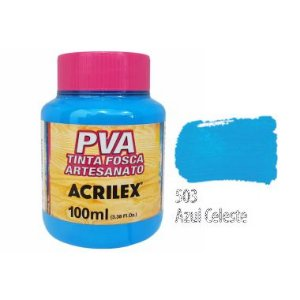 Tinta Plastica PVA  Azul Celeste 503 100Ml