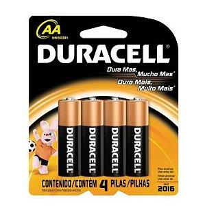 Pilha AA Duracell C/4 Alcalina