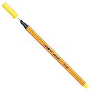 Caneta Stabilo Point 88 Amarelo Limão 24