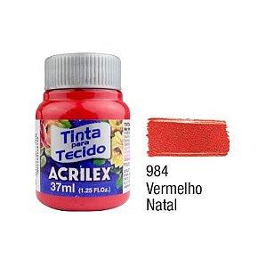 Tinta P/Tecido Fosca Acrilex 37ML Vermelho Natal 984