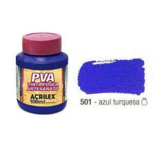 Tinta Plastica PVA Azul Turquesa 501 100Ml