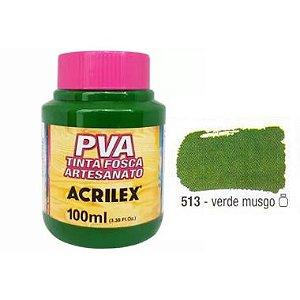 Tinta Plastica PVA Verde Musgo 513 100Ml
